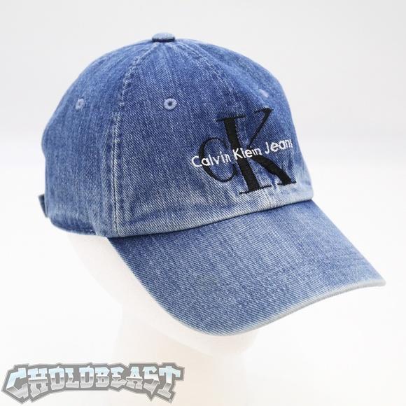 1a5d7824d3b Calvin Klein Other - Vintage 90s Calvin Klein Spell out Denim Dad Hat